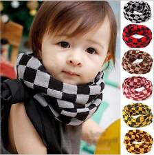 Lattice Girls Boy Kids Child Winter Knitted Neck Warm Scarf Scarves Snood Tube