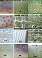 Floral Pattern Glass Window Film Privacy Window Film Bathroom Bedroom 60/90*100