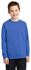 Port & Company Youth Neck Long Sleeve Tag Free 100% Cotton T-Shirt. PC54YLS