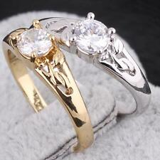 Luxurious Wedding Band Zircon Engagement Ring Gemstone Jewelry #F8s