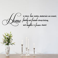 HOME, Friends, Love, Laughter, Forever, Wall Sticker, Decal, Wallart, SS139