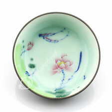 50ml Top Chinese GongFu Tea Porcelain Ceramic JingDe Lotus & Fish teacup tea Cup