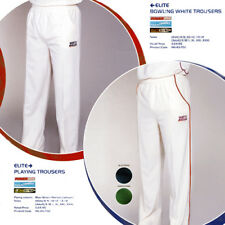NORTH GEAR Cricket TROUSERS ELITE Bowling Whites plain white in Small or XXL