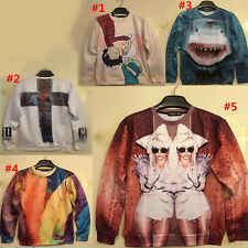 Hot Zero Quality Unisex Sexy Lady Cross Shark Stereoscopic 3D Sweater T Shirts
