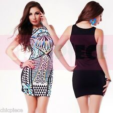 Sexy Lady Women Cocktail Party Evening Clubwear - Front Panel Dress Bodycon
