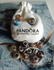 FIFTY NEW MURANO CHARMS + EUROPEAN BRACELET + PANDORA BRAND ANTI-TARNISH POUCH