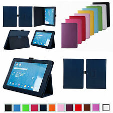 """Folio 2-Folding Leather Case Cover for 10.1"""" Asus Transformer Pad TF103C Tablet"""