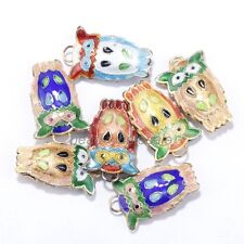 20 pcs Equisite Owl Cloisonne Beads Spacer Pendants Finding Making,new