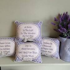 New Small Gift Cushions with Motivational Words/Sayings/Quotes - Love Peace Life
