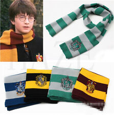 Harry Poter Gryffindor Hufflepuff Slytherin Knit Scarf Cosplay Costume Gift