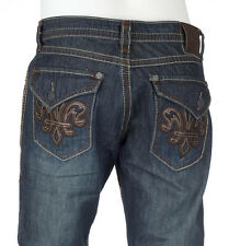 Archaic AFFLICTION Mens Denim Jeans FLEUR FLAP Embroidered Biker 32-38 $88 NWT