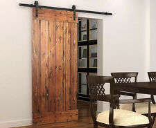 "6FT/6.6FT/8FT Rustic Steel Barn Door Sliding Hardware track,16"" apart holes"