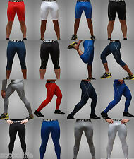 Mens Womens Compression Base Layer Tights Leggings Pants Bottoms Shorts Running