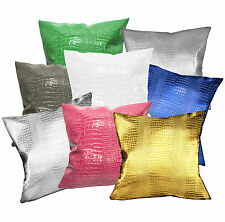 pd+8 Color Crocodile Skin Glossy Leather Cushion Cover/Pillow Case *Custom Size*
