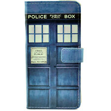 Doctor Who Tardis Police Box Leather Wallet Flip Case Cover For Iphone 6 ,6 Plus