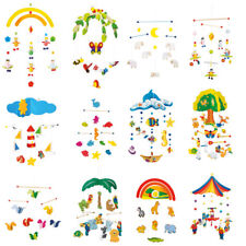 Wooden Baby Mobile Childrens Room Decoration Nursery Hanging Mobile - NEW