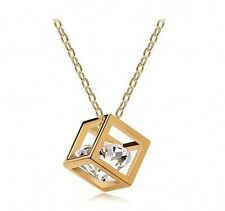 Brand Jewelry Cubic Lady's White Sapphire 10KT Gold Filled Necklace Pendants HOT