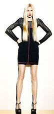 McQ Alexander McQueen Neoprene Bustier Dress 44 US 4 6 NWT $815 SALE