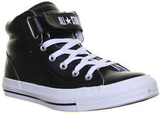 13532 Converse 126127 Unisex Loopback Velcro Strap Black Leather Matt Trainers