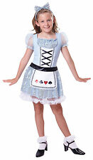 Card Girl Alice in Wonderland Girls Childs Kids Fancy Dress Costume Outfit 4 - 9