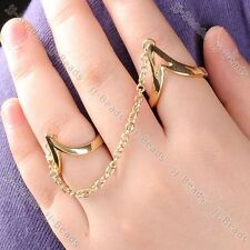 1pc Bird Spike Link Chain Finger Ring Punk Fashion Jewelry Unisex Punk