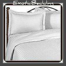 1200 Thread Egyptian Cotton sheet Set - White Stripes [Genuine & Ultra Soft]