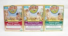 NEW!!! Earth's Best Organic Whole Grain Rice/Multi-Grand/Oatmeal Cereal