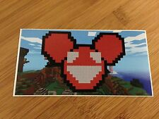 deadmau5 Minecraft vinyl sticker decal Trance Deep Dance House Dubstep DJ music