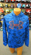 Under Armour Mens Armour Fleece Big Logo Hoodie - Blue Camo Blocks- S, M, L, XL