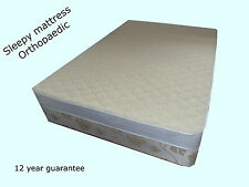 Sleepy Orthopaedic memory vacuum mattress, covered with 100% merino wool, firm