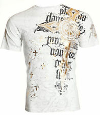 Archaic AFFLICTION Mens T-Shirt NEOPHYTE Cross Wings Tattoo Biker UFC M-4XL $40