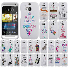For HTC One 2 M8 Case Accessory HARD Cover Protector Keep Calm and Kill Zombies
