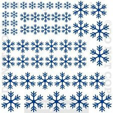 Snowflakes Falling Christmas Holiday Vinyl Wall Decal Quote Set Of 50