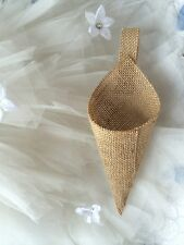 "100% Burlap Ribbon 1"" wide, 5 yards Rustic Wedding Ribbon"