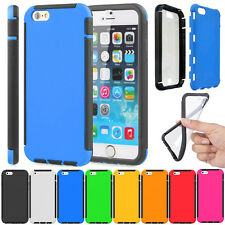Durable Full Body Protection Combo Case Built-in Screen Film For iPhone 6 & Plus