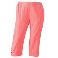 Cathy Daniels Womens Pull-On Salmon Embellished Pacific Coast Capris Pants $32