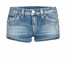 JOE cut off,TRUE RELIGION, W26,W27,W28,W29, NEU Fb. BLUE hot pants