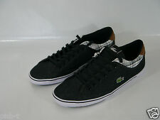 LACOSTE BLACK ANGHA CANVAS MEN'S TRAINERS  UK 9 10 11 BNIB HIGH QUALITY