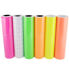 New 6 Colors 1 Tube X 10 Roll X 500 pcs Tags labels Refill for MX-5500 Price Gun