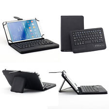 """Universal Removable Bluetooth Keyboard Case Leather For 12"""" 10"""" 9"""" 8"""" 7"""" Tablet"""