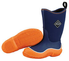 Muck Boot Kids Hale Orange & Navy Blue Winter Snow Boots KBH-444