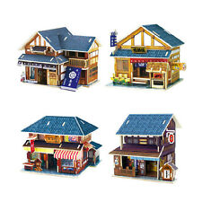 Japanese House Building 3D DIY Wooden Jigsaw Puzzle Model Craft Artware Toy Gift