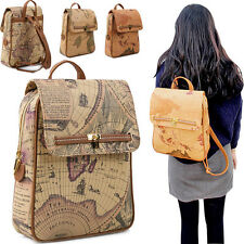 Copi - [Free shipping] Backpack for unisex.World Map Backpack. Casual Bag.