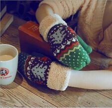 2014 New Fashion Xmas Women's Knit Twist Mittens Gloves Warm Winter 6 Colors