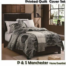 DB/QB/KB Printed 100% Cotton Duvet Quilt Doona Cover Pillowcases Set Norwich