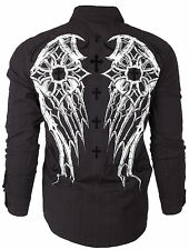 Xtreme Couture AFFLICTION Men BUTTON DOWN Shirt DARKNESS Roar UFC BKE M-XXL $78