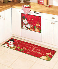 SNOWMAN Happy Holidays Christmas Kitchen Home Decor Rug Dishwasher Magnet NEW