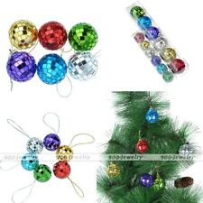 6pcs 27/29mm Pack Glitter Glass Christmas Baubles Balls For Tree Decor ornament