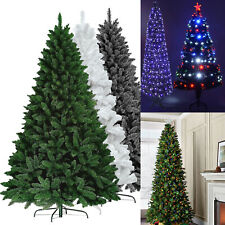 Artificial Christmas Pine Tree 6ft,7ft 600 Tips Green Black White With Stand