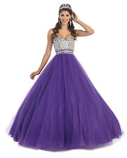 3 Color Quinceanera Ball Gown Dress Party Prom Evening Cocktail Pageant 4 To 16